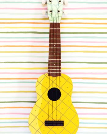 DIY Painted Pineapple Ukulele