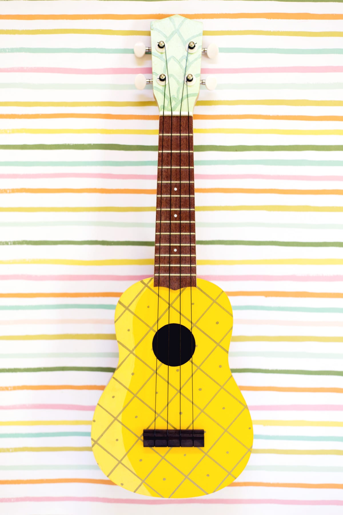 How to Make a Painted Pineapple Ukulele | Lovely Indeed