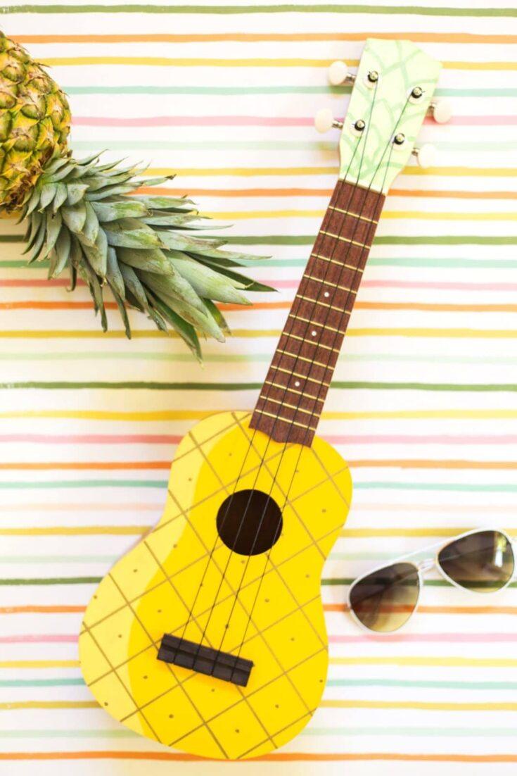 DIY Painted Pineapple Ukulele