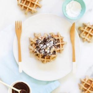 Father's Day Recipe // Vanilla Waffles with Dark Chocolate Drizzle thumbnail