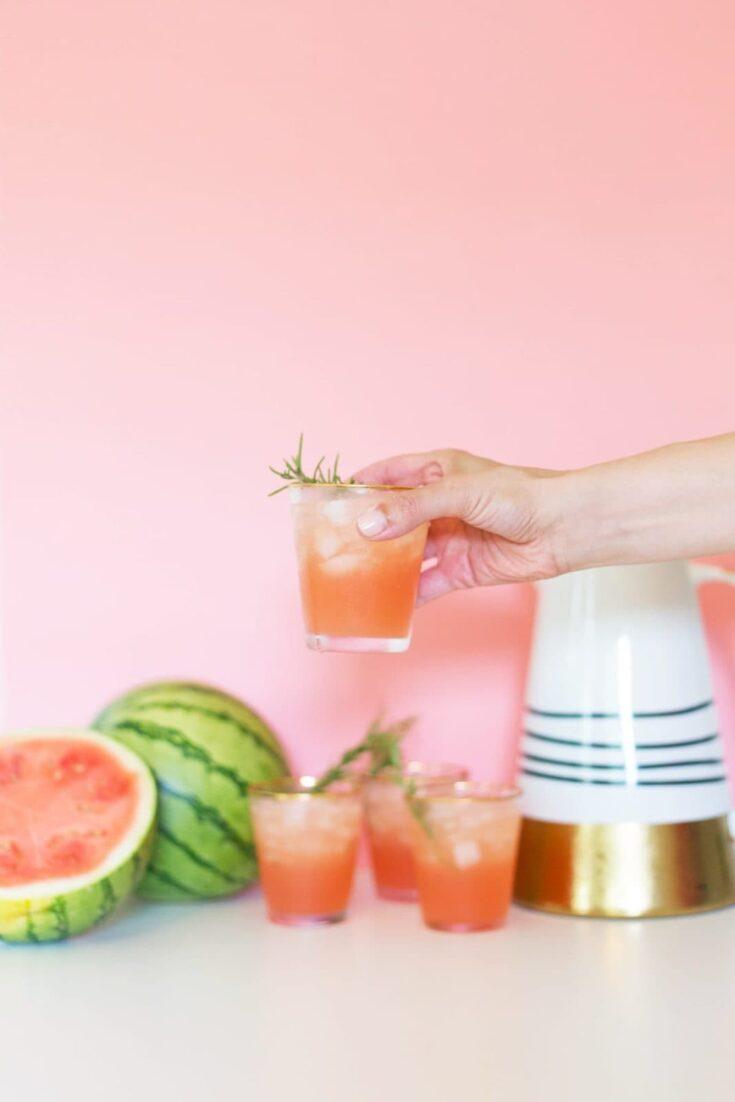 Rosemary Watermelon Cocktail Recipe