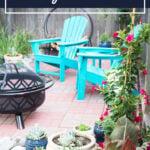 Brick paver backyard patio diy