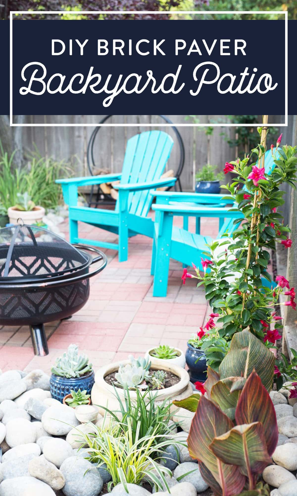 Brick paver backyard patio diy