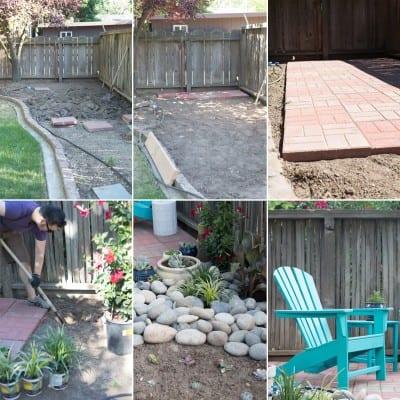 How to make a DIY backyard patio