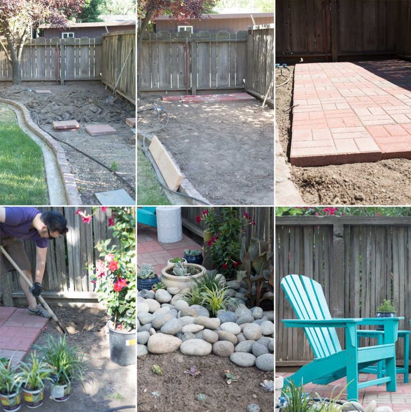 Easy DIY Backyard Patio With Brick Pavers » Lovely Indeed