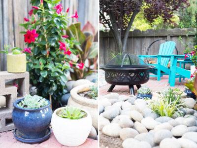 Backyard patio details