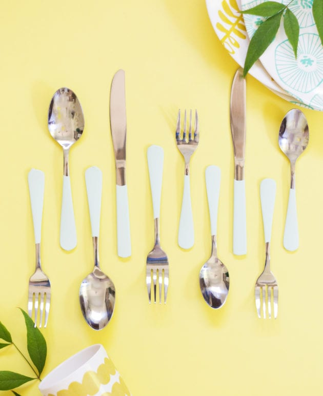 DIY Paint-Dipped Flatware thumbnail