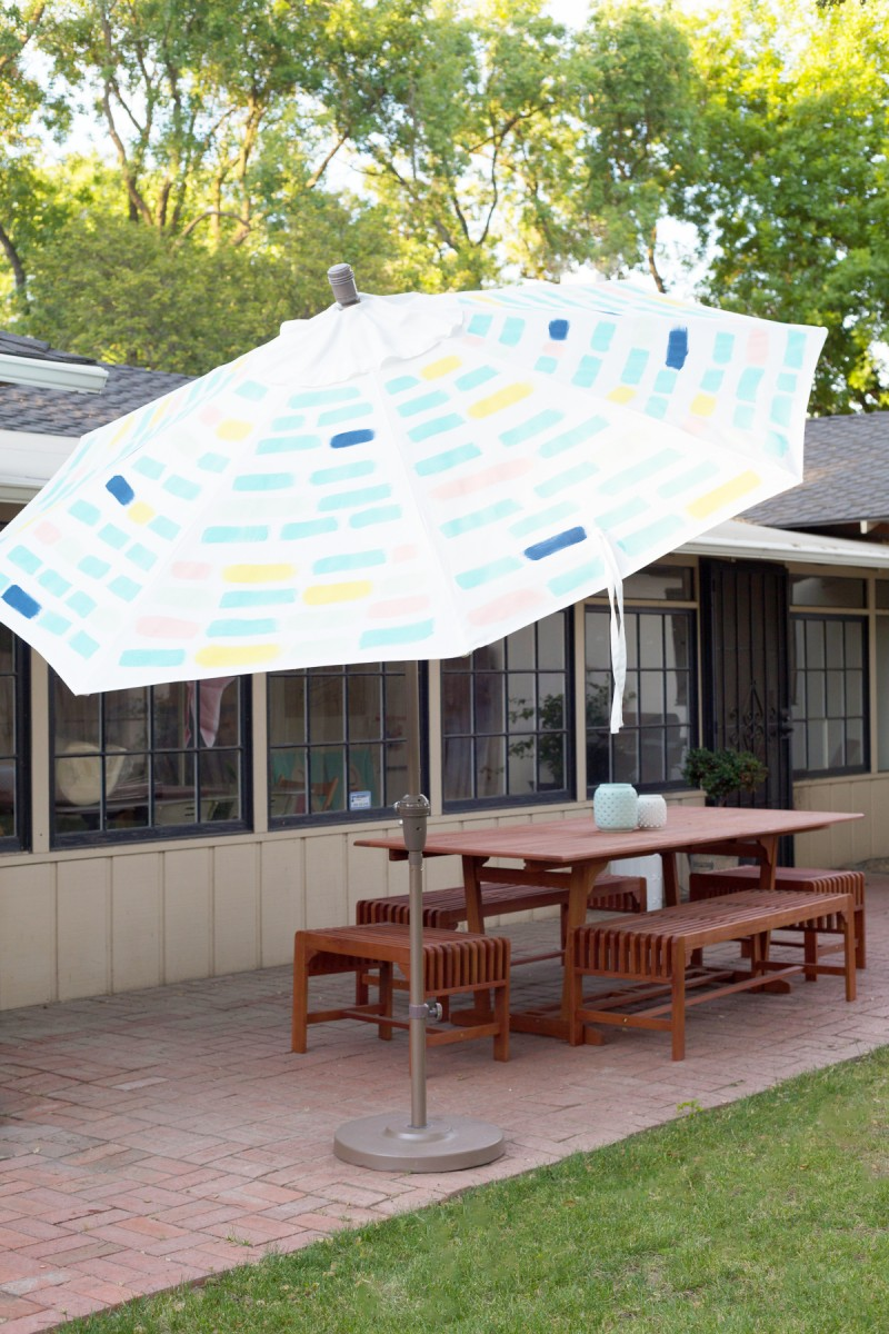 Diy Painted Pattern Patio Umbrella Lovely Indeed