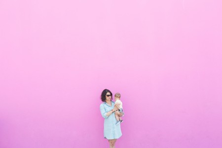 Mom and Baby Pink Wall