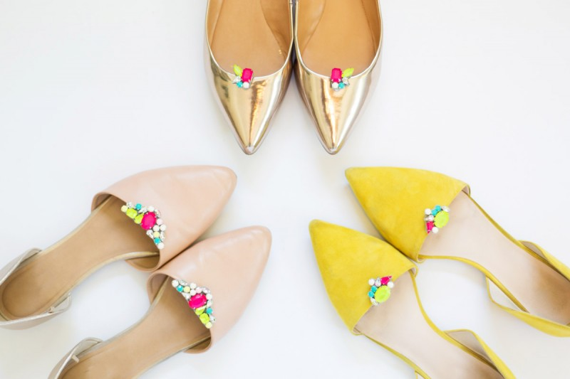 DIY Gemstone Shoe Clips