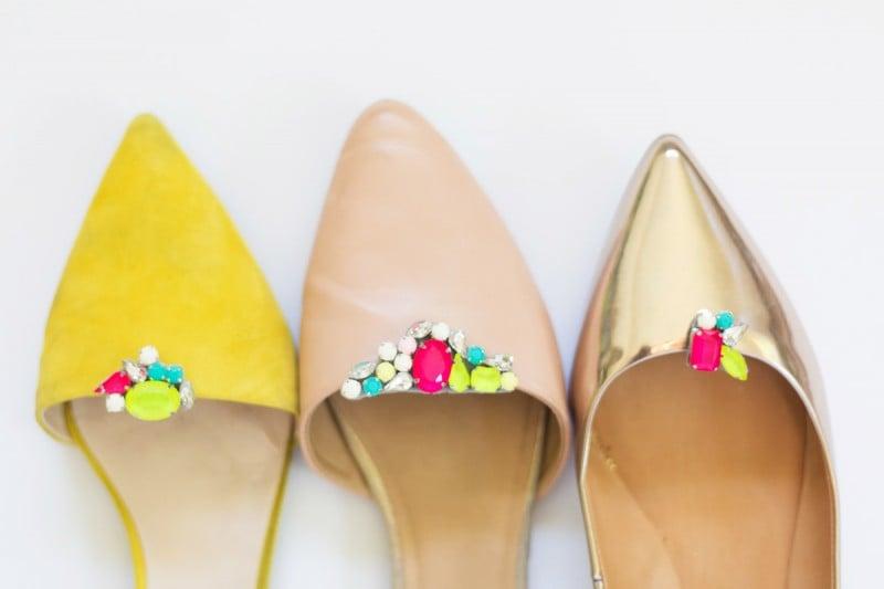 DIY Gemstone Shoe Clips