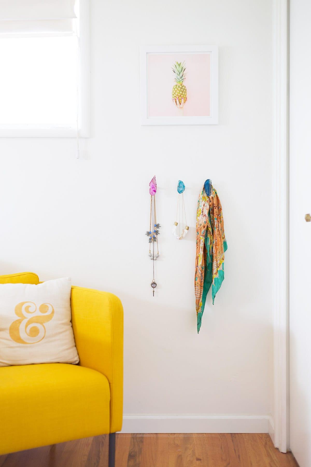 DIY Agate Wall Hooks