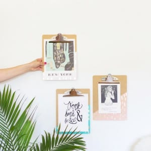 DIY Gold Leaf Brushed Clipboards thumbnail