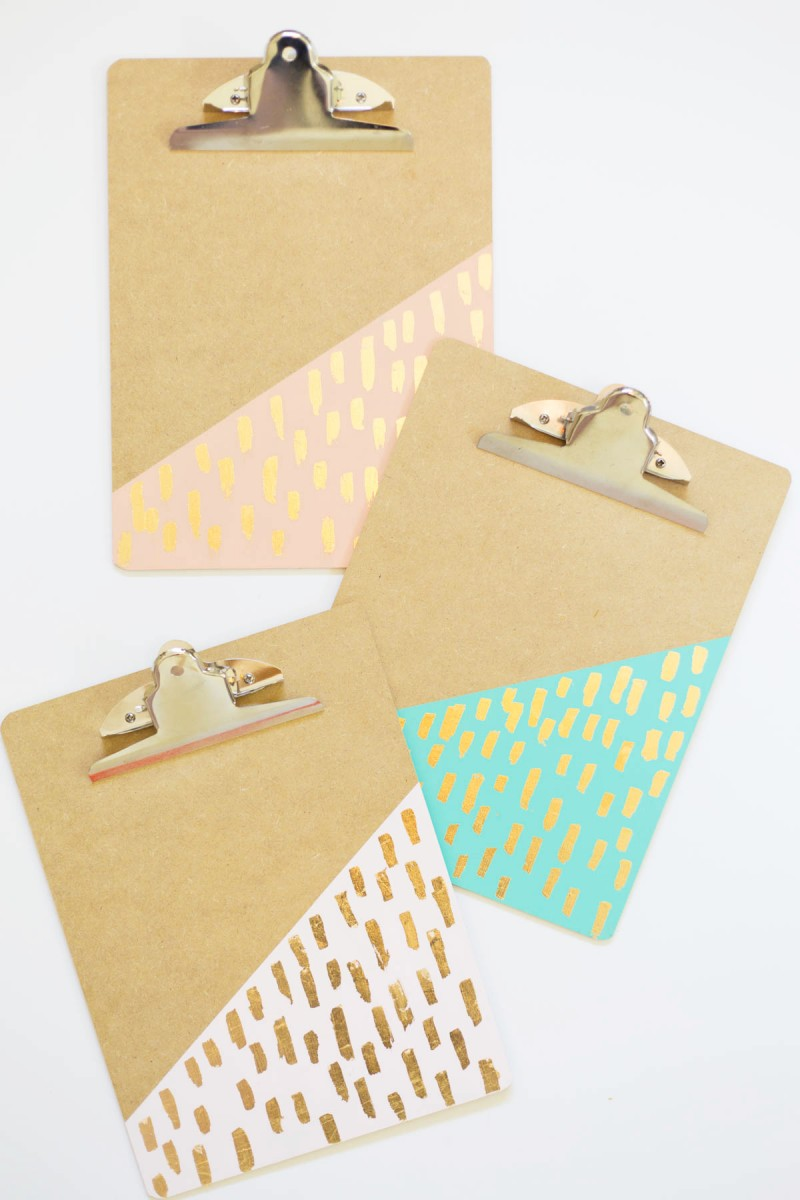 diy gold leaf brushed clipboards  u00bb lovely indeed