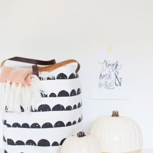 DIY Gold Leaf Dipped Pumpkin