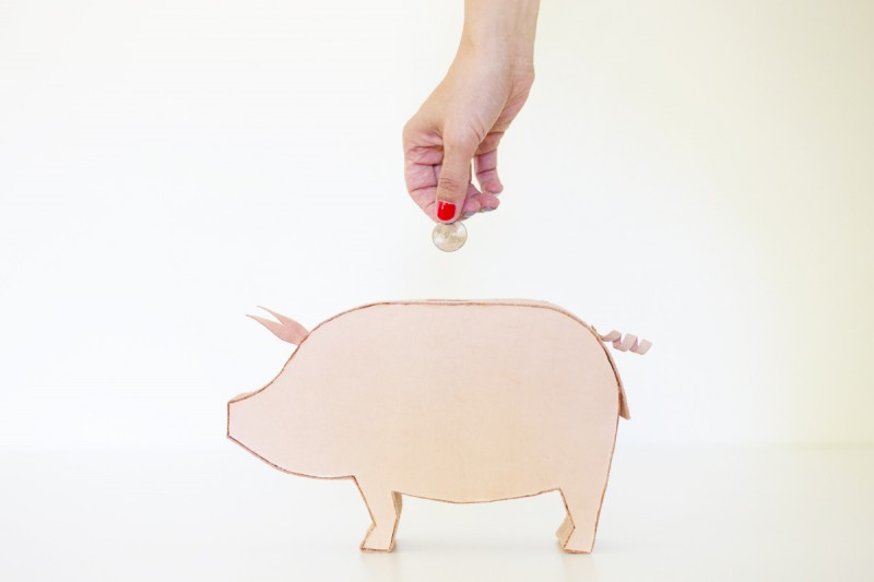 DIY Leather Piggy Bank