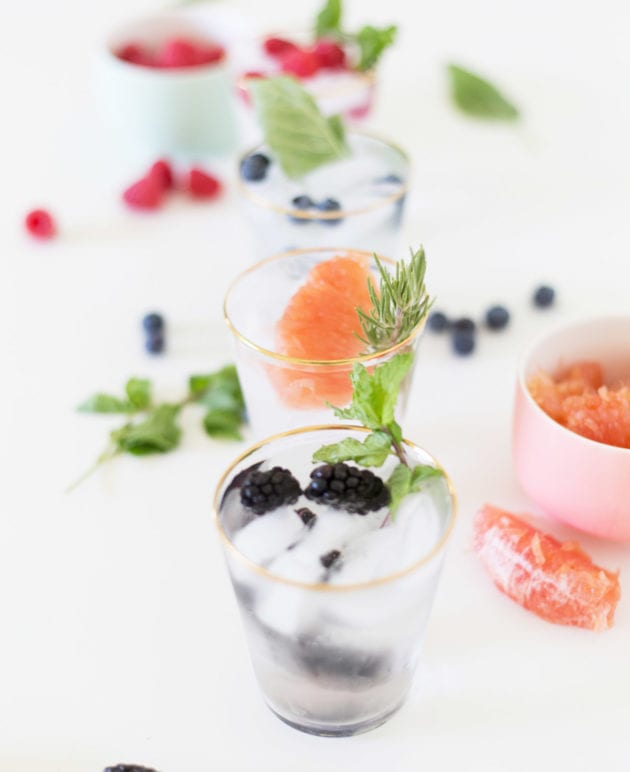 For Brunch // Fruit & Herb Infused Water thumbnail