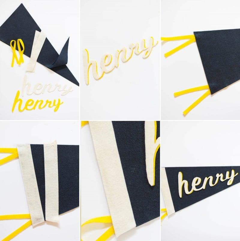 DIY No-Sew Felt Name Pennant