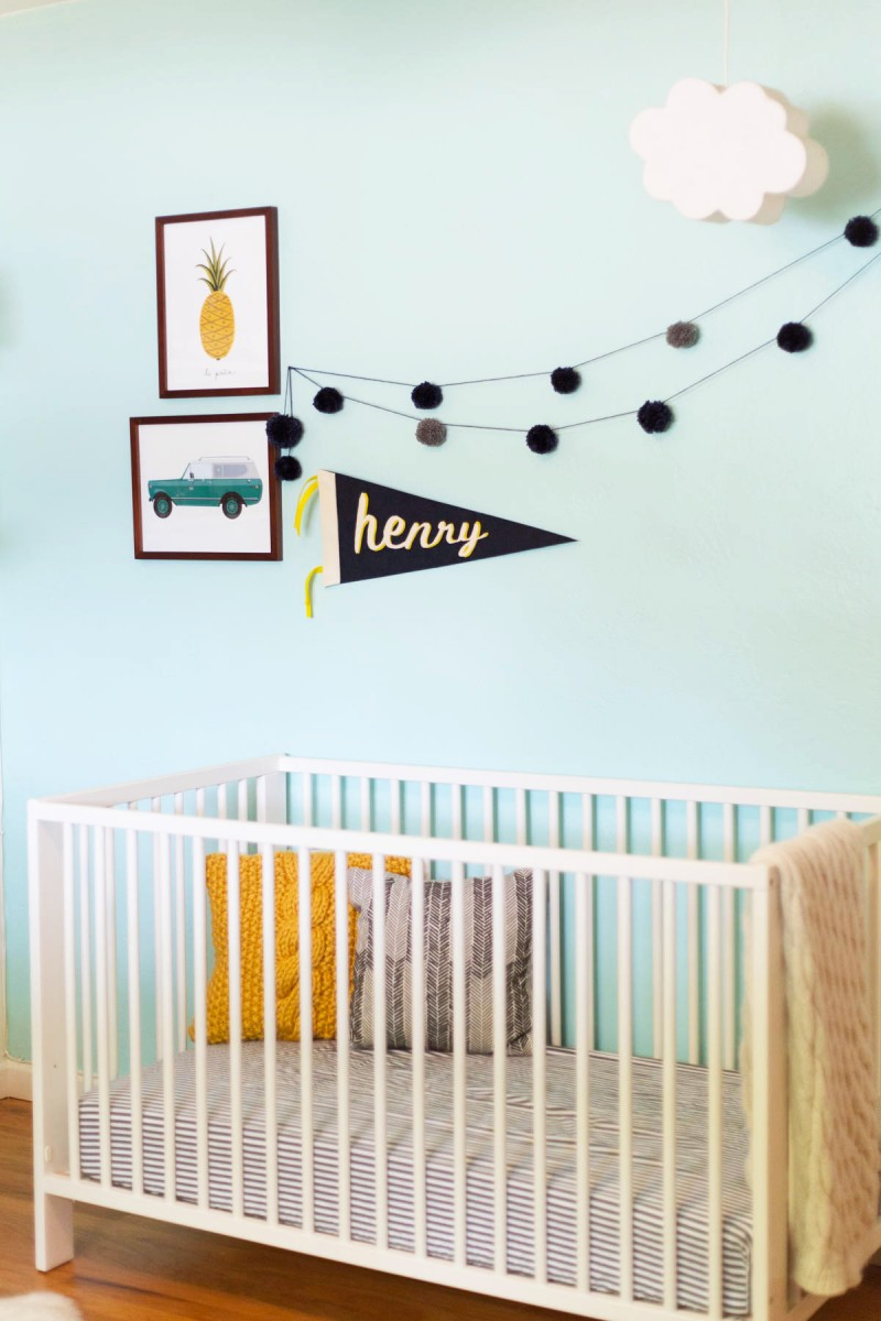 DIY No-Sew Felt Name Pennant