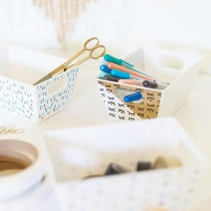 DIY Paint Pen Patterned Office Containers thumbnail