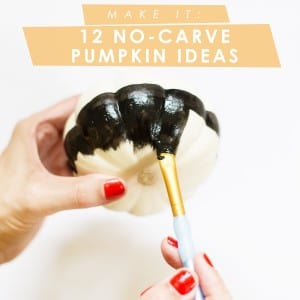 Twelve No-Carve Pumpkin Ideas for Halloween