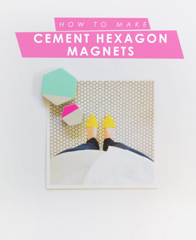 DIY Cement Hex Magnets thumbnail