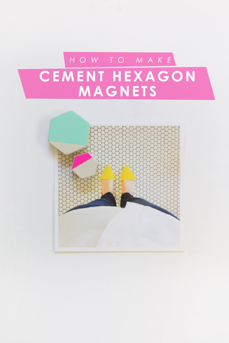 How to Make Cement Hexagon Magnets