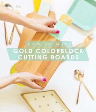 DIY Gold Colorblock Cutting Boards thumbnail