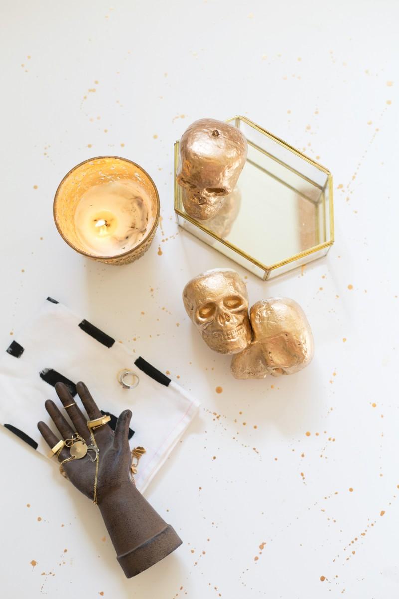 DIY Gold Skulls