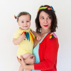 "DIY ""Birds of a Feather"" Mom + Baby Halloween Costume thumbnail"