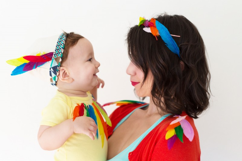 Mom And Baby Boy Halloween Costume Ideas.Diy Birds Of A Feather Mom Baby Halloween Costume