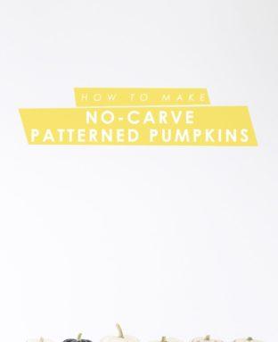 DIY Paint Pen Pattern No-Carve Pumpkins