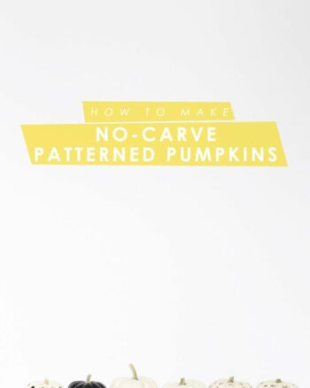How to Make No-Carve Patterned Pumpkins