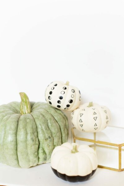 DIY Paint Pen Patterned No-Carve Pumpkins