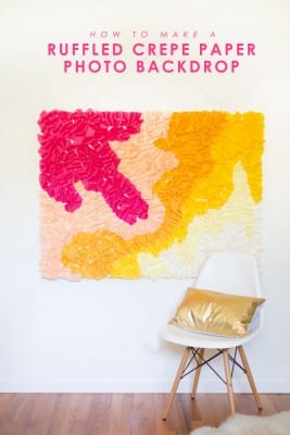 How to Make a Ruffled Crepe Paper Photo Backdrop