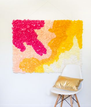 DIY Ombre Ruffled Crepe Paper Photo Backdrop thumbnail