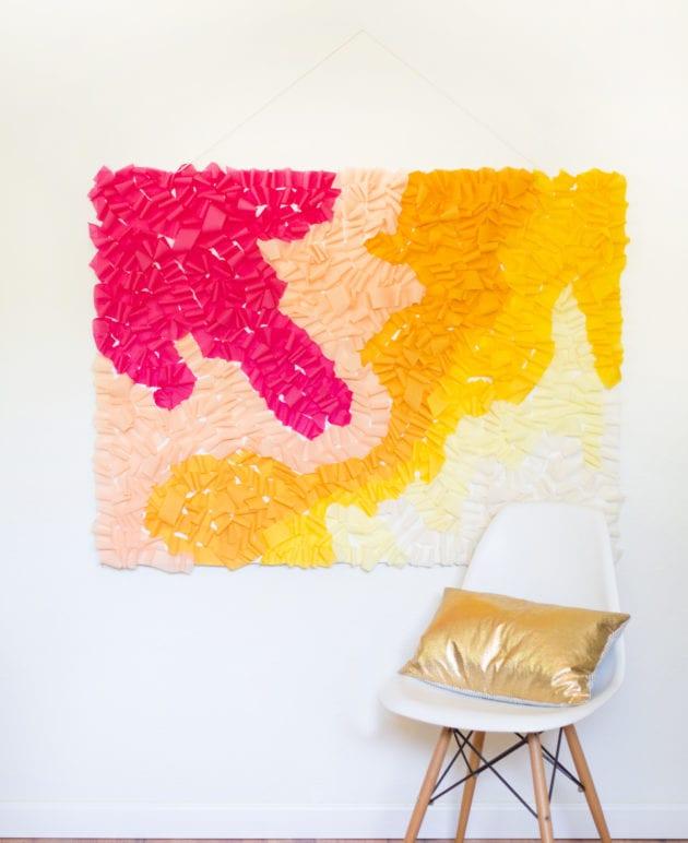 DIY Ombre Ruffled Crepe Paper Photo Backdrop thumbnail