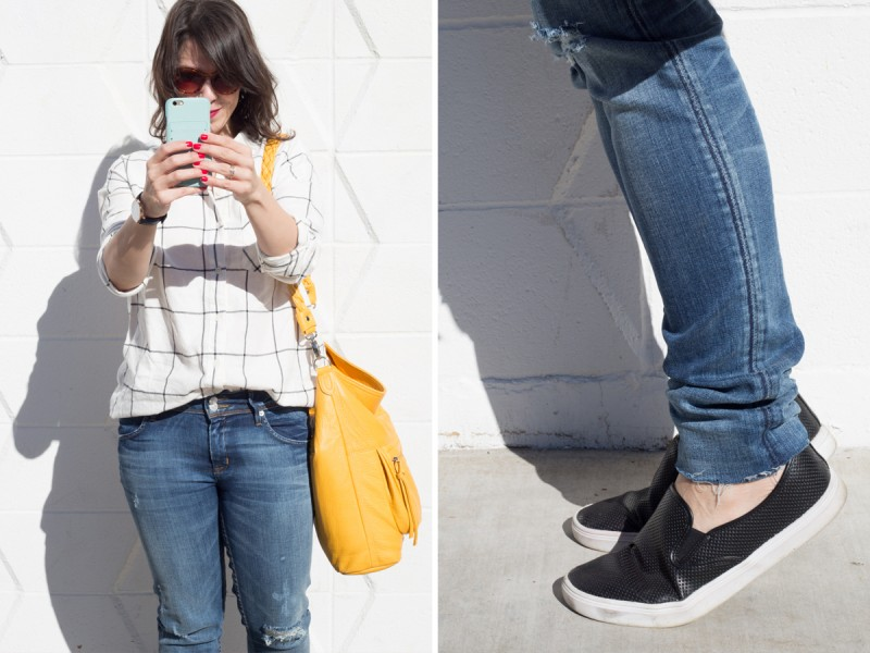 How to Style Distressed Denim for Fall
