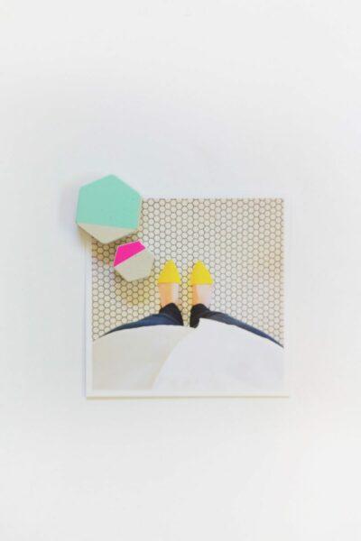DIY Cement Hexagon Magnets