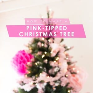 DIY Pink Tipped + Honeycomb Christmas Tree thumbnail