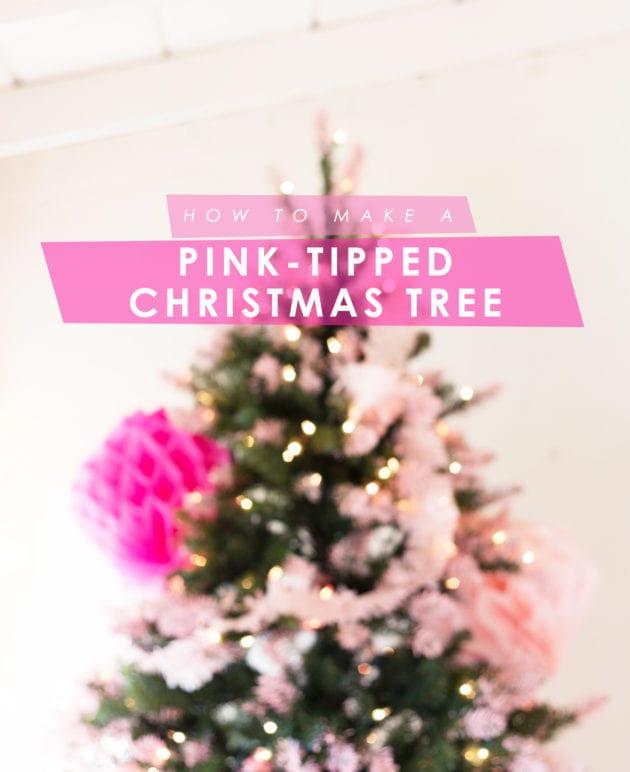 DIY Pink Tipped + Honeycomb Christmas Tree thumbnail