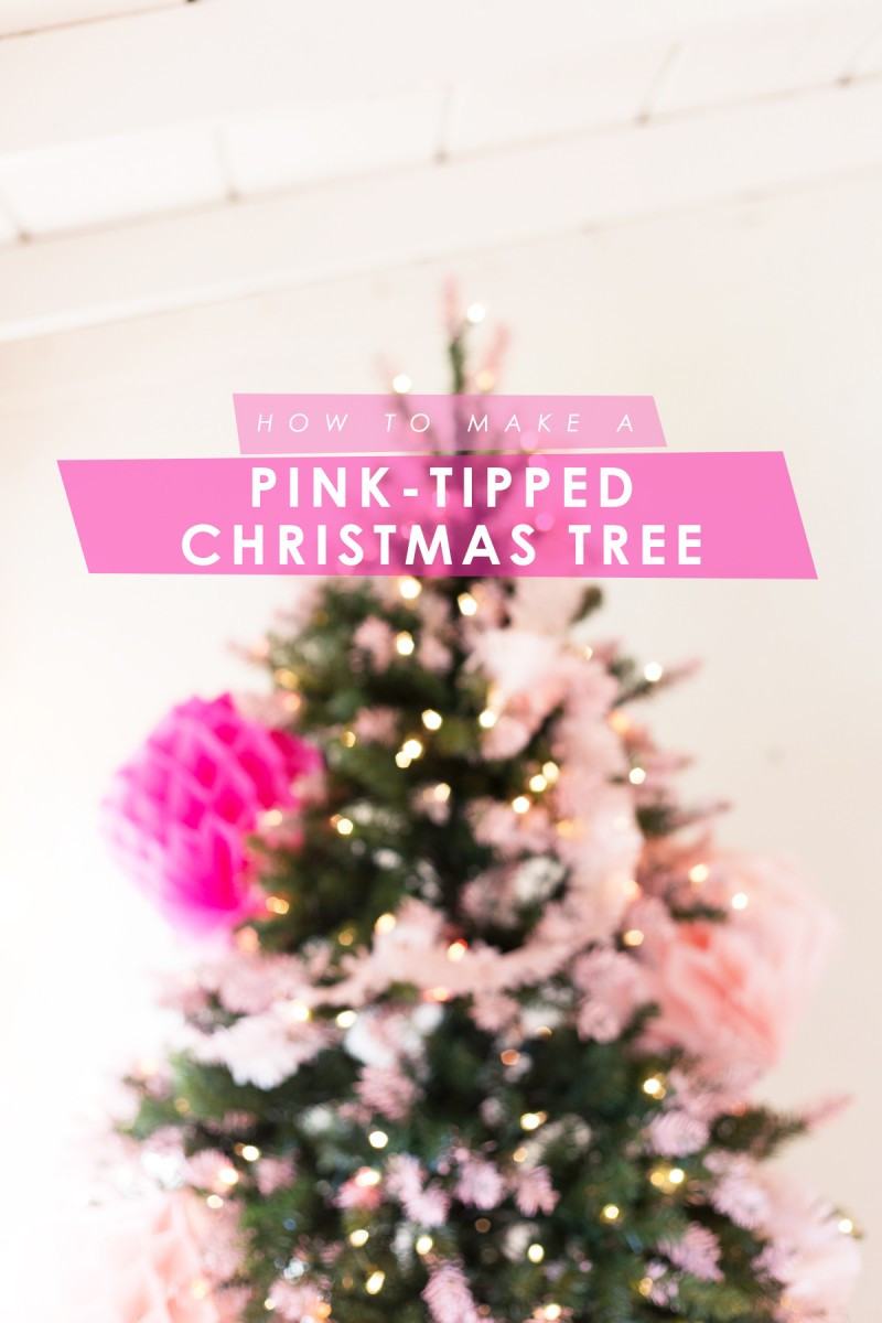 DIY Pink Tipped + Honeycomb Christmas Tree | Lovely Indeed