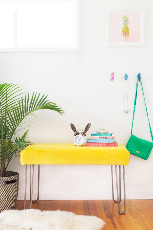 How to Make a Modern Hairpin Leg Bench