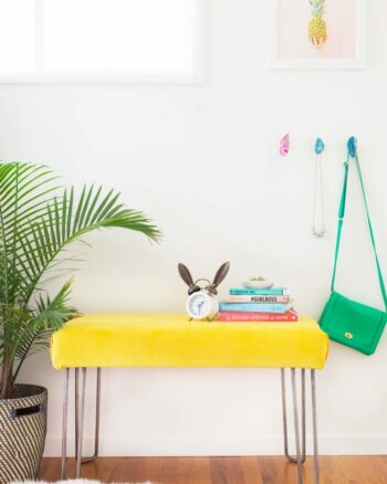 How to Make a Modern Hairpin Leg Bench