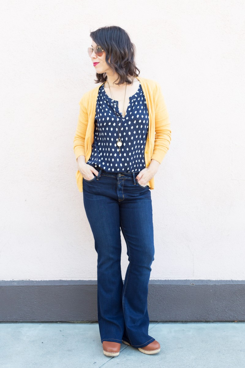 How to Wear Flared Denim Jeans