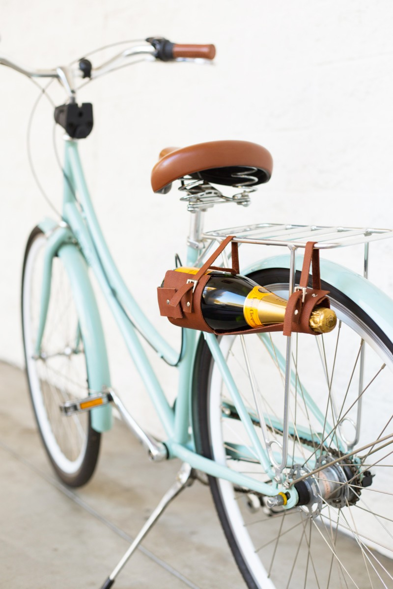 DIY Wine Bottle Carrier + BIKE GIVEAWAY! | Lovely Indeed