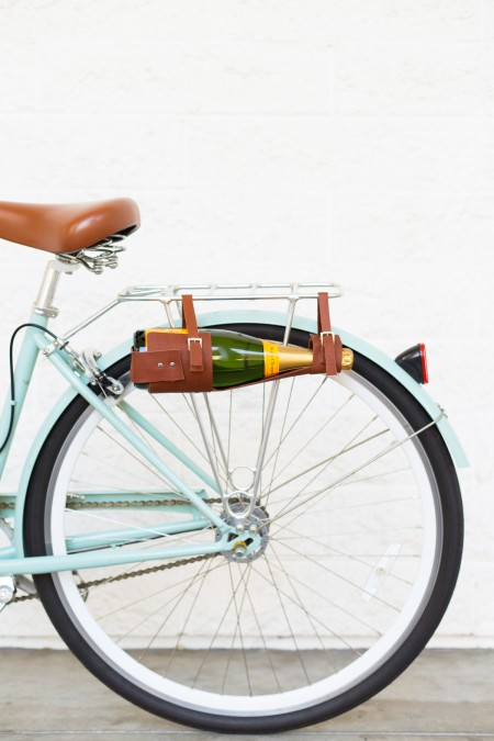 How to Make a Leather Wine Bottle Carrier for Your Bike