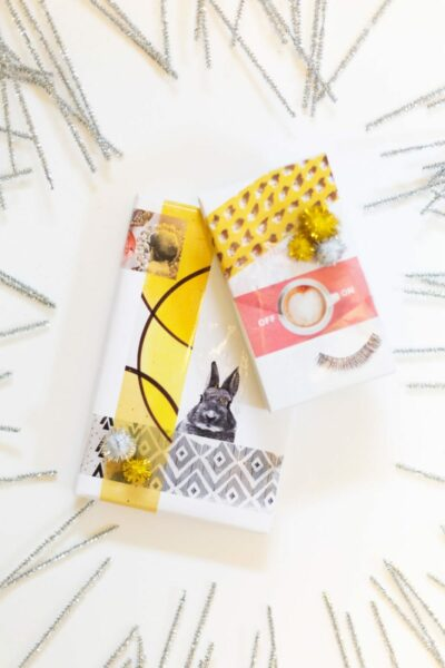 How to Make Packing Tape Image Transfer Gift Wrap