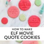 elf movie cookies