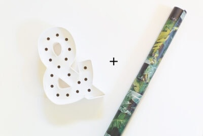 How to Make a Customized Ampersand Marquee Light